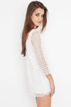 Scalloped lace...I love this dress!