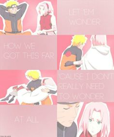 Naruto x Sakura | NaruSaku | Heaven & Earth | Orange / Yellow & Pink / Red | OTP