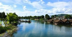 Beautiful River Kwai in Kanchanaburi province   Journey to Thailand