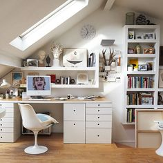 Loft Conversion office - great use of space
