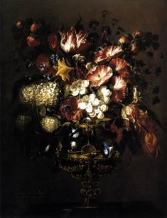Exposition ArtVase of Flowers - Juan De Arellano - Still-life Painting Art
