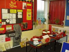 Our Post Office role play pack will teach children to use creativity and imagination, as well as info about how to send letters and mail. Dramatic Play Area, Dramatic Play Centers, Play Based Learning, Learning Through Play, Role Play Areas Eyfs, Jolly Christmas Postman, Katie Morag, Play Corner, Classroom Displays