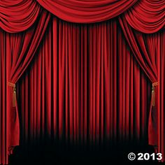 Red Curtain Backdrop Banner - Oriental Trading  *photo booth? *teacher treasures? $10.50