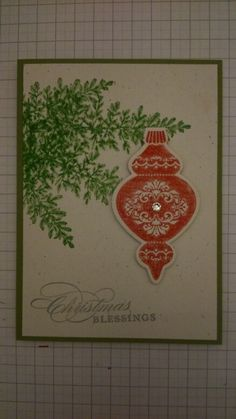 Craft shack Christmas card - Stampin up