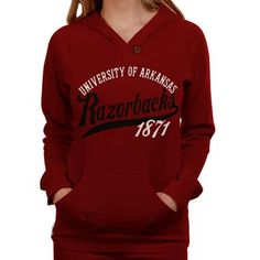 Arkansas Razorbacks Ladies Cardinal Far Out Pullover Hoodie Sweatshirt