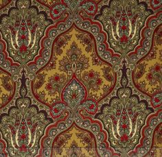 Wharton  Multi Paisley Camel Yardage by Rosemarie Lavin for