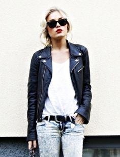 that leather jacket!