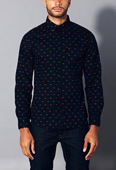 Slim Fit Bow Print Shirt | 21 MEN - 1000076220