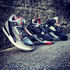 Air Jordan 3, 4 and 5. #sneakers