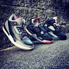 Air Jordan 3, 4 and 5. #sneakers