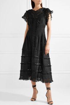 Zimmermann | Iris lace-trimmed fil coupé cotton-voile midi dress | NET-A-PORTER.COM