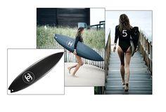 La planche de Surf Chanel http://www.vogue.fr/beaute/shopping/diaporama/accessoire-de-luxe-pour-le-sport/20912/image/1108754