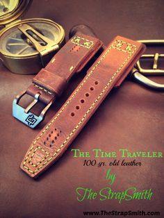 Custom watch strap from 100yr. old ammo leather.  www.thestrapsmith.com