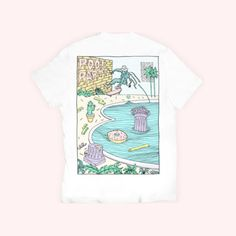 BANDIT CAT - Pool Party T-shirt  Illustrated by Zoum   https://www.instagram.com/banditcatshop/ http://banditcat.fr/