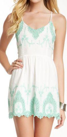 Mint Lace Dress //