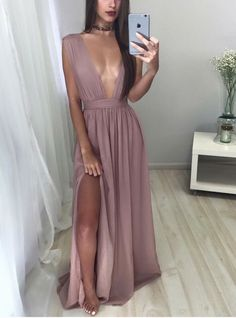 Sexy Chiffon Prom Dress,Long Prom Dresses,Charming Prom Dresses,Evening Dress…