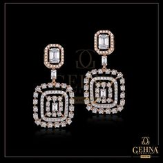 Designed to fetch Compliments!⠀ This by is the ideal pick for any evening look. Diamond Jewelry, Gold Jewelry, Diamond Earrings, India Jewelry, Jewellery, High Jewelry, Women's Earrings, Compliments, Studs