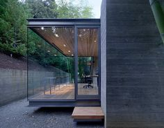 Steel And Glass For A Beautiful Tea House in Silicon Valley, California