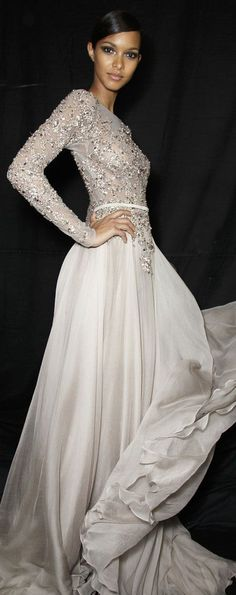 white evening dress to be fashionable Long Sleeve Evening Gowns, Evening Dresses, Prom Dresses, Wedding Dresses, Chic Dress, Dress Skirt, Moroccan Dress, Chiffon Gown, Gorgeous Wedding Dress