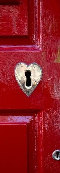 in red~heart & door