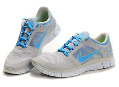 Cheap Nike Free Run 3 grey light-blue