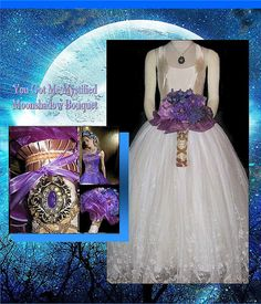 Purple Moon Shadow Bouquet by whiteriver51 on Etsy, $345.00