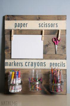 Mantén en orden el escritorio de tus hijos.