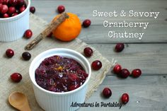 This cranberry chutney takes the humble cranberry sauce and kicks it up a notch with the addition of blueberries and spices. Perfect for Thanksgiving!