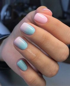Make an original manicure for Valentine's Day - My Nails Acrylic Nail Designs, Nail Art Designs, Acrylic Nails, Cute Nails, Pretty Nails, Gender Reveal Nails, Faux Ongles Gel, Teal Nails, Vacation Nails