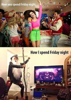 I spend Friday night on youtube watching pewdiepie, markiplier, and cryaotic! you?