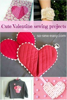 cute valentines Day sewing projects