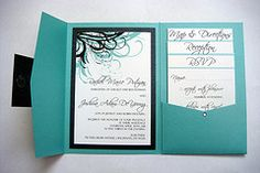 blue and black wedding invitations - Google Search