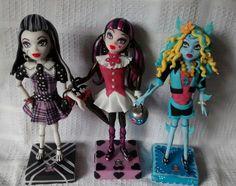 Monster High Frankie , Draculaura y Lagoo  realizado en porcelana fria