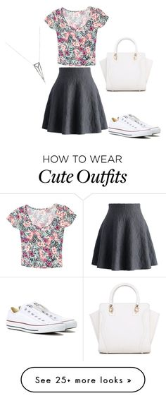 """Cute outfits"" by abbey1025 on Polyvore featuring Chicwish, Grayson, Converse and Eva Fehren"