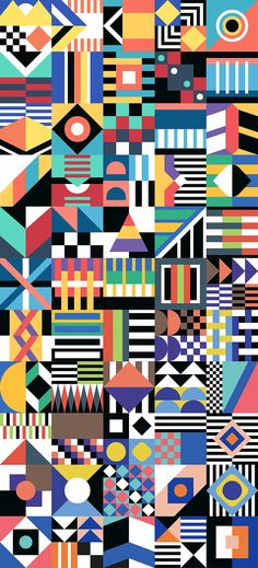 This would be on rhythm and focal point because it tells many of different focal points in each square. The pattern of each one relates to each other because of the color scheme and the pattern there going for.