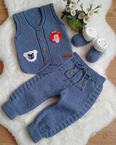 Free Baby Sweater Knitting Patterns, Crochet Baby Dress Free Pattern, Baby Patterns, Crochet For Boys, Knitting For Kids, Handmade Baby Blankets, Baby Vest, Baby Sweaters, Barn