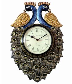 9366eade5f Ethnic India Art Peacock Wooden Carving Wall Clock, http://www.snapdeal