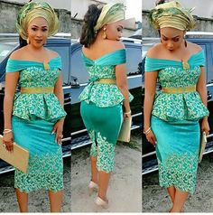 Latest Lace And Ankara Aso Ebi Styles For You This Week | Amillionstyles.com