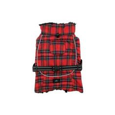 Alpine All-Weather Dog Coat Flannel — Red and Green Plaid                                                                                                                                                                                 More
