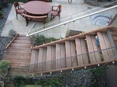 Exterior Stairs Types Of Stairs, Floating Staircase, Exterior Stairs, Stairways, Terrace, Wood, Google Search, Floating Stairs, Outdoor Stairs