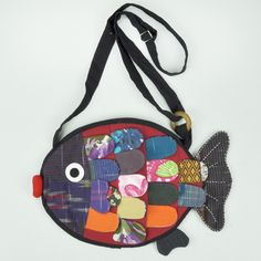 """Patchwork Fish Shoulder Bag 