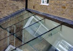 Lean to flat glazed rooflight