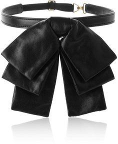 Saint Laurent - Black Bow Leather Collar - Lyst 3e8216cca89