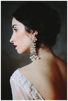 Bridal portrait inspiration. Wedding dress by Leanne Marshall from The Sentimentalist, hair and makeup by Corianne Elizabeth. Image by Michelle Scott Photography.