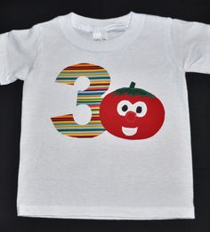 Veggie Tales birthday shirt by Fit For A Prince.