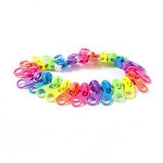 Rainbow Neon Zippers Stretch Bracelet $7.50
