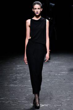 Haider Ackermann S/S 2013 #style #fashion #runway #blackdress