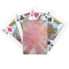 Sunburst Tie Dye warm I Bicycle Playing Cards - fun gifts funny diy customize personal