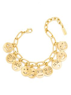what fun! An oversized charm bracelet with emoticons is fun and blingy.