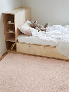 Fairy Floss Sierra - Armadillo Floor Rug from Curious Grace. Garderobe Design, Plywood Furniture, Kid Spaces, Kid Beds, New Room, Kids Decor, Floor Rugs, Girls Bedroom, Room Inspiration